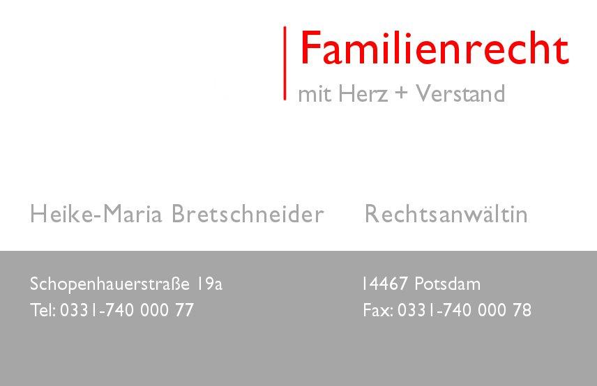Scheidungsanwalt Stahnsdorf Kleinmachnow Potsdam Scheidungsanwältin Heike-Maria Bretschneider
