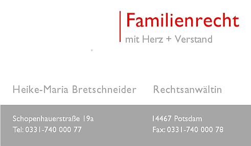 Scheidungsanwalt Potsdam Scheidungsanwältin Heike-Maria Bretschneider - schnelle Scheidung